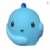 HAPPYQUDA Large Kawaii Dinosaur Squishy Bread Soft Slow Rising Stress Relief Toys 1PCS Blue