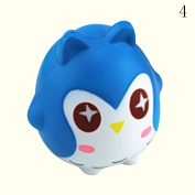 HAPPYQUDA Kawaii Squishy Owl Bread Super Soft Slow Rising Gift Cream Scented Toy 1PCS Blue