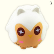 HAPPYQUDA Kawaii Squishy Owl Bread Super Soft Slow Rising Gift Cream Scented Toy 1PCS White