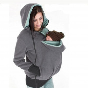 Maternity Polar Fleeces Baby Carrying Coat Babywearing Hoodie Jacket Mum and Baby Sweater Pullover for Two
