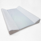 baby-joy Changing Mat Zig Zag Line 100% Cotton Changing Table Pad - 00 Grey Plain