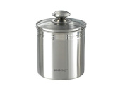Jar Storage Container Stainless Steel Container for Coffee Beans Coffee Tea Cocoa, Nuts, Lid, Stainless Steel/of 13.5x17.5 cm KH 3398