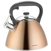 Klaus Mountain Bronze Stainless Steel Whistling Kettle Teapot Kettle 3 Litre Compact Camera 7209