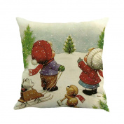 KFSO Christmas Snowman Pillowcases Bedroom Pillow Cover Home Decor 18X18