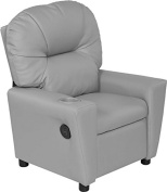 Relaxzen 60-7100KU04 Youth Recliner with Cupholder and Dual USB, Grey