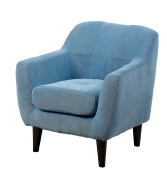 Furniture of America Cass Scoop Frame Youth Chair Contemporary Style - Blue
