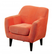 Furniture of America Cass Scoop Frame Youth Chair Contemporary Style - Orange