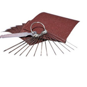 GUAngqi Guitar Bridge Saddle Nut Files Set- Sand Paper And Stainless Steel Needle Files