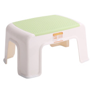 Kleanner Plastic Small Step Stool Children's Stool, Anti-Slip Foot Perfect For Toddler Toilet Training Or Kids Bathroom For Brushing Teeth Or Washing Hands, 30cm x 22cm x 17cm Green