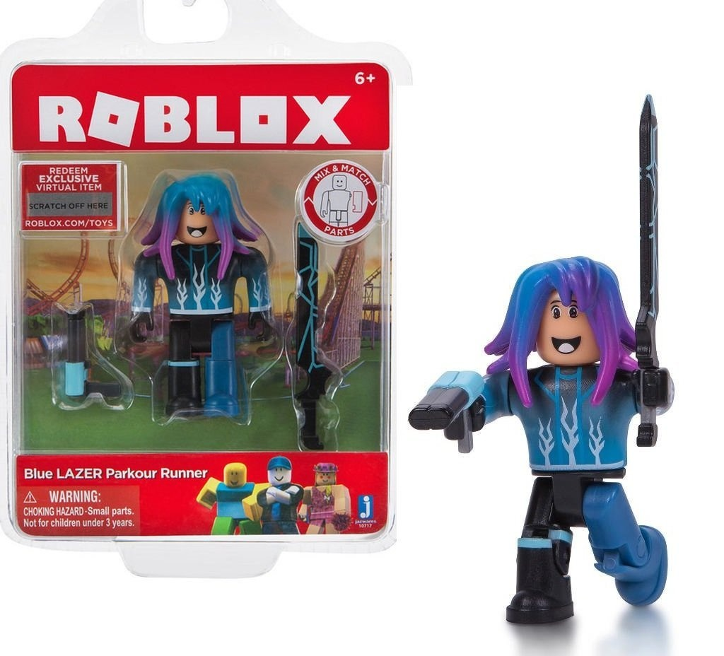 Roblox Blue Lazer Parkour Runner Action Figure Comes With A