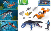 EXCLUSIVE Animal Planet Deep Sea Adventure Set - LIOPLEURODON - Features a Liopleurodon Figurine with Vicious Jaws that Snap Shut at the Touch of a Button, as well as a Lifelike Barracuda.