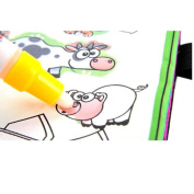ManxiVoo Magic Water Drawing Book Colouring Doodle Animal Painting Board Magic Pen for Baby Kids Children
