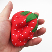 Stress Relief Squeeze Toy,Toraway 10cm Fun Strawberry Squishy Charm Squeeze Slow Rising Squishies Cream Scented Toy for Stress Relief Kids Fun Toy
