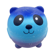 Toraway 11cm Cute Lovely Galaxy Starry Panda Squishy Charm Squeeze Slow Rising Squishies Cream Scented Toy for Stress Relief Kids Toy Gifts