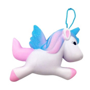 Stress Relief Squeeze Toy,Toraway 11CM Exquisite Fun Cute Unicorn Squishy Charm Squeeze Slow Rising Squishies Cream Scented Kid Toy for Stress Relief Phone Charm Gift