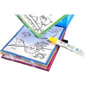 Wenjuan Magic Water Drawing Book Colouring Book Doodle Magic Pen Animals Painting Features: