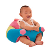 O-Toys Baby Chairs Siting Learning Infant Seat Plush Stuffed Animal Pillow Protector Pig Cushion Sofa for Kids 3-6 Months