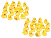 2 Pack of 20 Fun Express Yellow Duck Matching Game bundled by Maven Gifts
