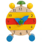 Wenjuan Hand Made Wooden Clock Toys for Kids learn the concept of time and intellectual development Clock Educational Toys