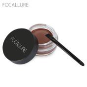 FOCALLURE Waterproof Long Lasting Dyeing Eyebrow Gel Cream Eyeshadows with Brush Makeup Tool