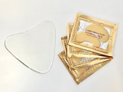 Anti-Wrinkle Clear Silicone Chest Pad to Eliminate and Prevent Décolleté Fine Lines and Wrinkles Without Lotions to Smooth Cleavage Overnight, Bonus Gold Collagen Eye Pads