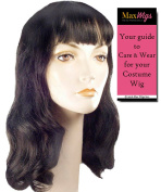 Deluxe 40s Page Boy Colour Blonde - Lacey Wigs Women's Bettie Hollywood Forties Movie Star Pageboy Bundle with MaxWigs Costume Wig Care Guide