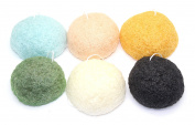 Konjac Sponge Puff - Set of 6 Varieties - Original, Charcoal, Cherry Blossom, Wild Mint, Yuzu, and Green Tea, Our Earth's Secrets Made in Japan