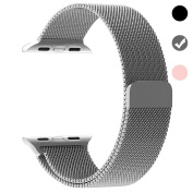 Ferdery Stainless Steel Band Mesh Milanese Loop Bracelet Strap Replacement Band with Magnetic Closure Clasp for Apple Watch Series 1 Series 2 Series 3 Edition 38mm 42mm