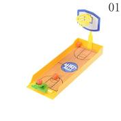 37YIMU 1 Pcs Funny Finger Board Games Toys Desktop Spores game,Basketball
