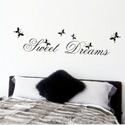 Sweet dreams quotes wall stickers DIY decals