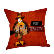Squre Pillowcase,Sixcup® Thanksgiving Pillow Cover Thankful Sentiment Embroidered Car Sofa Cases Cushion Case