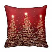 Masrin Decorative Pillowcases Merry Christmas Pillow Cases Cotton Linen Sofa Cushion Cover Home Decor