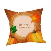 Masrin Decorative Pillowcases Happy Thanksgiving Pillow Cases Linen Car Sofa Cushion Cover Home Decor