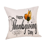 Masrin Decorative Pillowcases Happy Thanksgiving Pillow Cases Linen Car Sofa Cushion Cover Home Decor