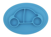 Baby's One-piece Silicone Placemat Highchair Feeding Tray High Suction Car Placemat Non Slip for Kitchen Dining Table, Dishwasher, Microwave Safe, FDA Approved BPA Free