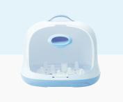 Baby Bottle Storage Box Drain Rack Clamshell Dust-proof Tableware Storage Box Portable