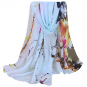 Women Chiffon Scarf, Xinantime Fashion Floral Prints Shawl Scarf