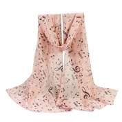 Women Scarves, Xinantime Lady Chiffon Musical Note Neck Scarf Shawl Muffler Scarves