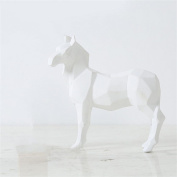 Interior decoration ornaments large black and white horse living room bedroom home furnishings , white