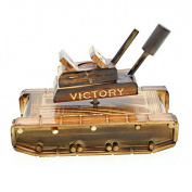 Octave music box wooden turret can be rotated