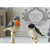 Set of two Ornaments, Weatherproof resinInterior decoration ornaments bird living room bedroom home furnishing