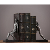 The Reader decorative metal bookend in black colour home furnishings