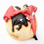 LVEDU Spanish Bullfighter 3D Fridge Magnets World Travel Souvenirs Refrigerator Magnetic Sticker Home Decoration