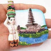 LVEDU Indonesia Bali Island Fridge Magnet World Travel Resin Refrigerator Stickers