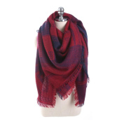 Women Neck Scarves, Xinantime Wool Plaid Stitch Long Cashmere Shawl Neck Scarf