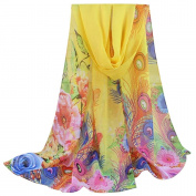 Christmas Women Scarves, Xinantime Lady Fashion Floral Prints Shawl Chiffon Scarf