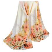 Women Scarves, Xinantime Fashion Lady Peony Prints Shawl Chiffon Scarf