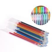 Ularma 48pcs Gel Pens Gel Refills Rollerball Pastel Neon Glitter Pen Drawing Colours