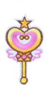 10 Iron On Embroidered Magica Princess Wand for Clothes, Scrapbooking, Sewing,.. 8 X 4.5 CCM.