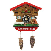 LVEDU High Quality Handmade 3D Resin Switzerland Cuckoo Clock Travel Souvenirs Creative Refrigerator Magnetic Stickers Home Decoration